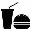 Burger with Cold Drink icon