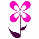 Flower shape of four petals icon