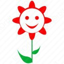 Smiley Flower icon