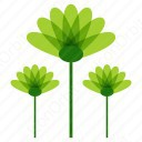 Green Abstract Flower icon
