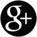 Google Plus black circular logo icon