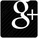 Google Plus Black Square Logo icon