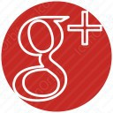Google Plus Outline circular logo icon