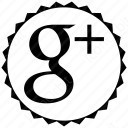 Google Plus Circular Badge icon