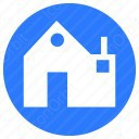 House in blue icon