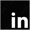 LinkedIn Black Logo icon