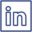 LinkedIn Logo Clean icon