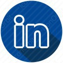 LinkedIn Circle Shadowed icon
