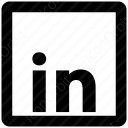 LinkedIn Square Line Logo icon