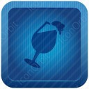Blue Beer Glass icon