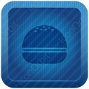 Burger Blue Icon