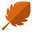 Orange Leaf icon