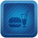 Drink with Burger icon