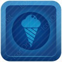 Circle Cone Icecream icon