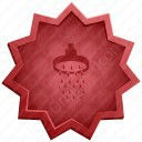 Bath Shower Badge Icon
