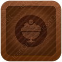 Ice Cream Brown Icon