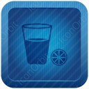 Lemon Juice Blue Icon