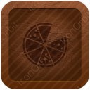 Pizza Brown Icon