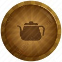 Colour Circle Tea Pot Icon