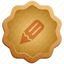 Pencil Badge icon