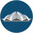 Lotus Temple Icon