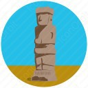 Tiwanaku bolivia old monument icon