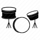 Three drum icon
