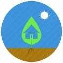 home under leaf icon