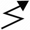 Cross Zig Zag Arrow icon