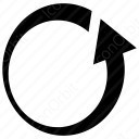 Anticlockwise Curved Arrow icon