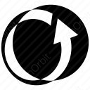 Anticlockwise Circle Arrow icon