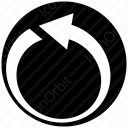 Back Circle Arrow icon