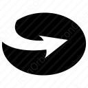 Circle Forward Arrow  icon