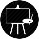 Easel Board Circle icon