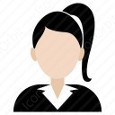 Office Girl with Ponytail icon