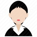 Office Girl With Bun Hairstyle icon
