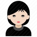 Simple Girl In Black icon