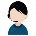 Telecaller Girl in Office icon