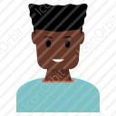 African Boy Avatar Icon