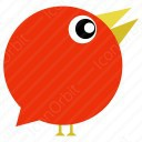Orange Circular Bird icon