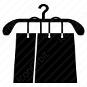 shopping bags with hanger icon