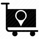 shopping cart with content icon