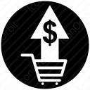 shopping cart with doller icon