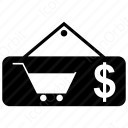 shopping  cart dollar icon