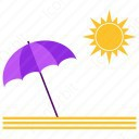 umbrella with sun icon