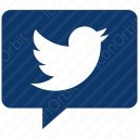 twitter white message icon