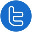 twitter blue t icon