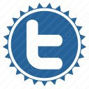 twitter blue t 3d icon