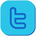 twitter t blue and white icon