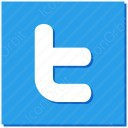 twitter t white and sky blue icon